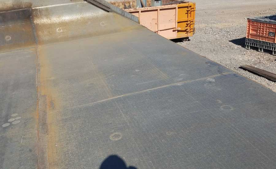 SA1750CRChromium Carbide Overlay Plate Truck Bed Tail Section Liner