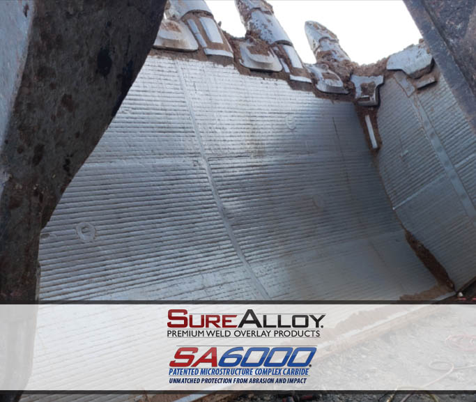SA6000 Patented Complec Carbide Overlay Plate Clam Liner